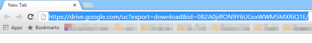 Force Download Files from Google Drive - Enter New URL