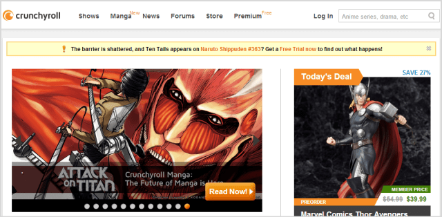 Watch Anime Online - Crunchyroll