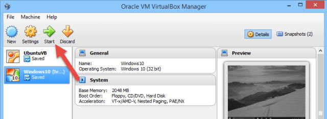 virtualbox-start-virtual-machine