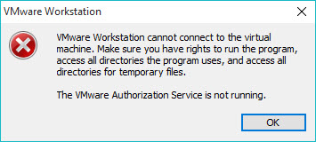 vmware-authorization-service-not-running-error