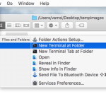 How to Open Terminal in Current Folder Location on Mac OS X