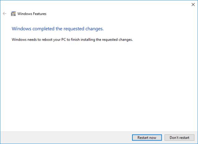 bash on Windows 10 restart windows 10