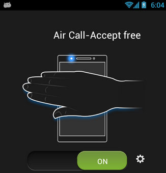 enable gesture control android air accept call free