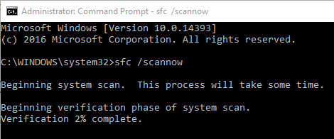 fix SYSTEM_SERVICE_EXCEPTION error Windows 10 run sfc command