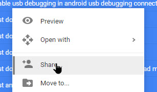 see file count in google drive select share option