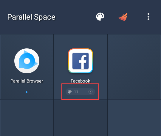 multiple facebook accounts on android tap on themes