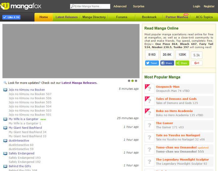 Best manga website - MangaFox