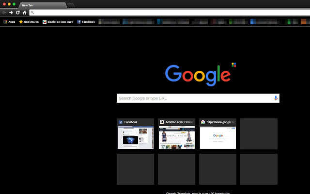 Dark themes for Google Chrome - Morpheon Dark