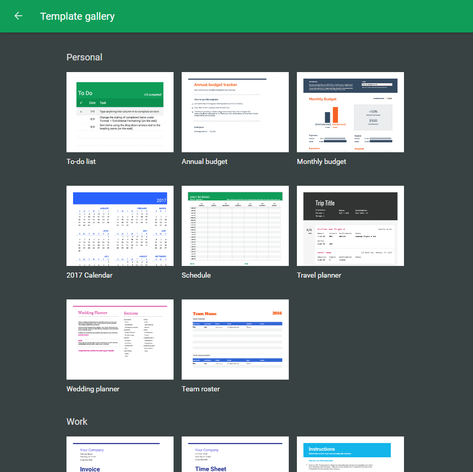 Google Spreadsheets Tips - Google Sheets Templates