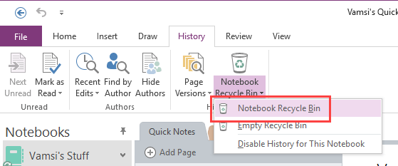 How to Find OneNote Recycle Bin and Recover Delete Notes - Stugon