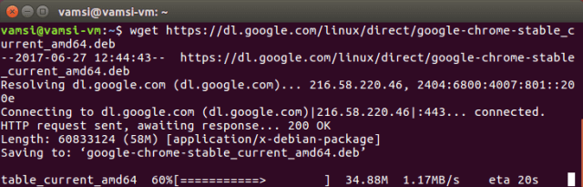 Install Google Chrome in Ubuntu - download Google Chrome latest build