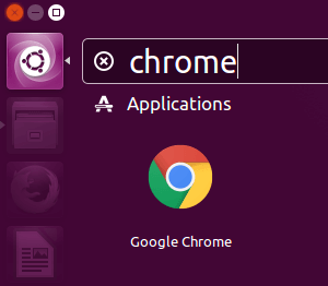 Open Google Chrome in Ubuntu
