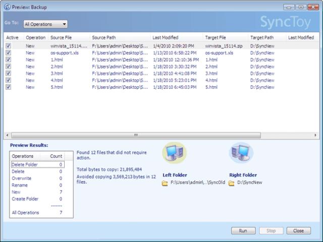 free folder sync software - synctoy