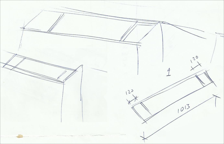 tekening stalen meubel