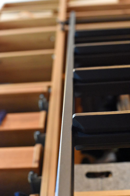 Luxe zwarte ladder van staal