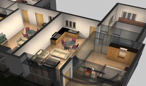 Stunningmesh - Bedroom Plan Interior Decoration