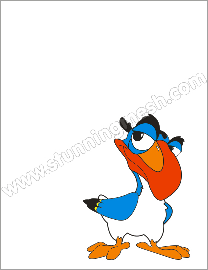 Stunningmesh - Coreldraw Tutorial - Cartoon Bird