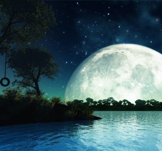 romantic moon wallpaper