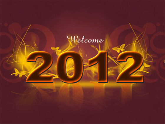 Beautiful Happy New Year 2012 in Different Styles