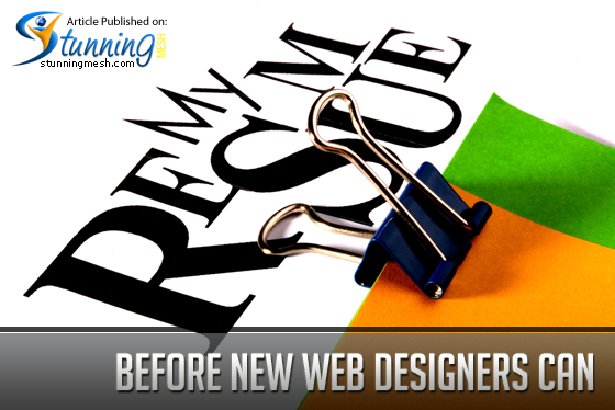 Before new web designers can