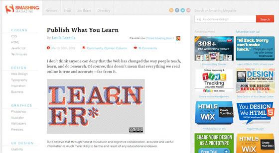 Seven Sites for Learning Website Design