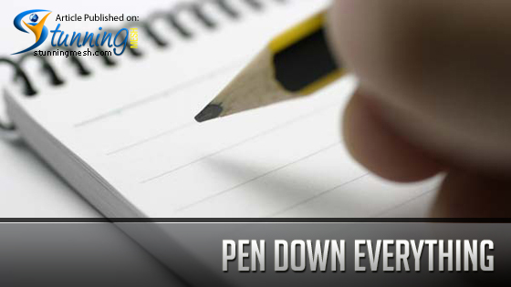 Pen down Everything