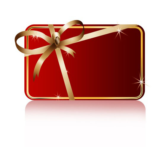 Photoshop Christmas Red Gift Box Logo Icon