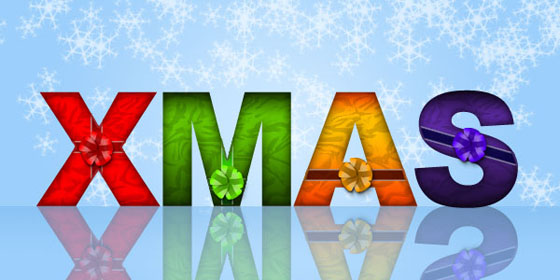 Christmas Wrapped Text Effect