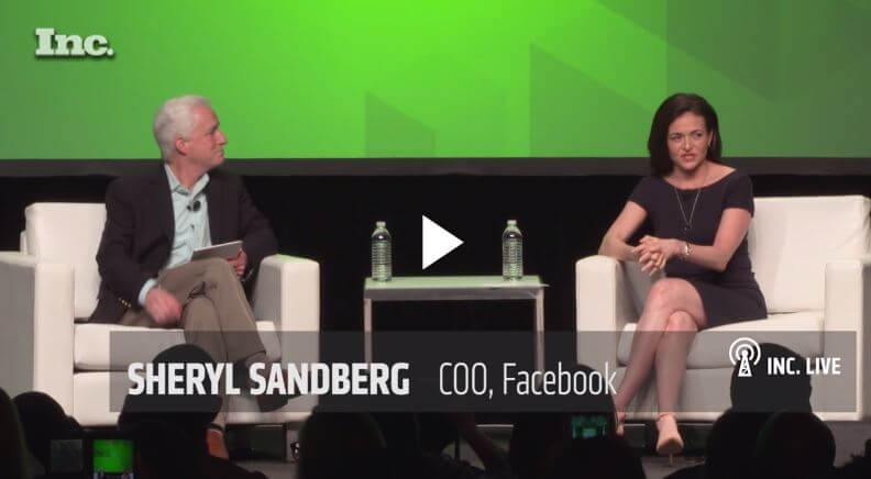 sheryl sandberg best social media for business facebook