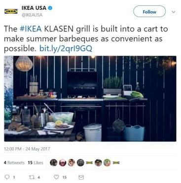 ikea twitter example of a/b testing
