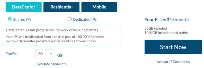 Data center shared IPs