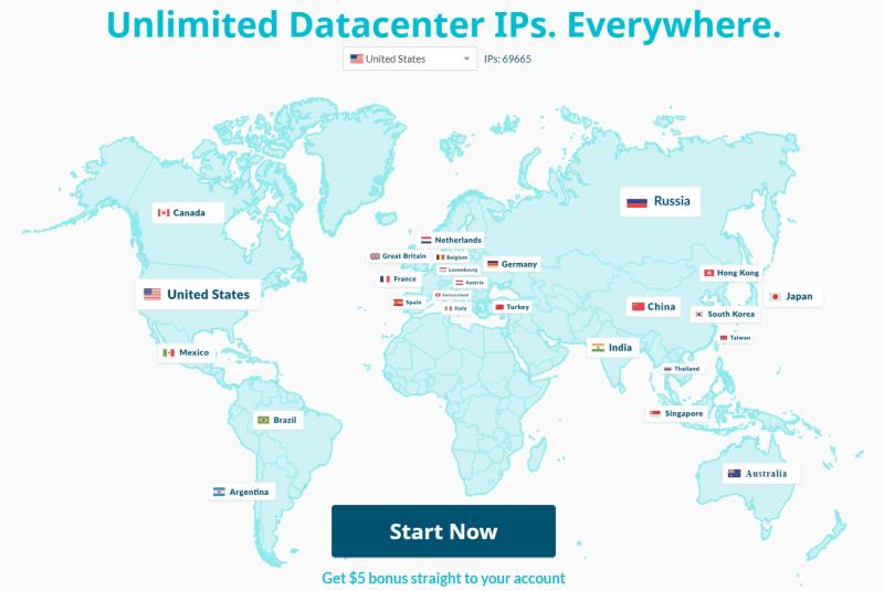 Datacenter IPs proxy network of Luminati