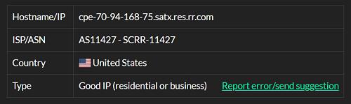 IP1 - 70.94.168.75 ISP test