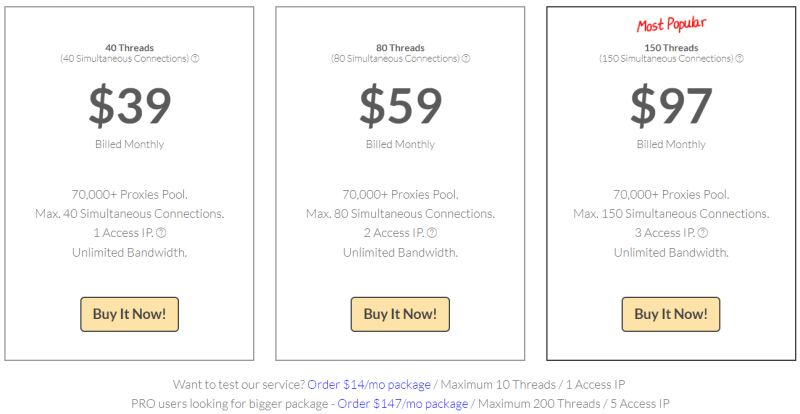 Price of How StormProxies Backconnect Rotating Proxy