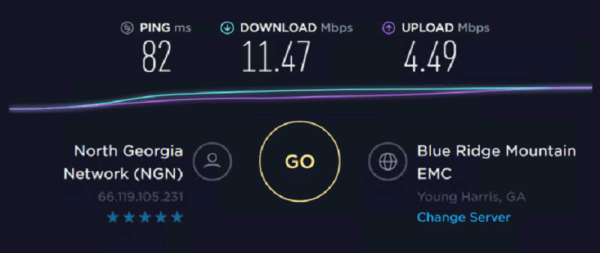 Speed Test of Stromproxies Residential IP 5