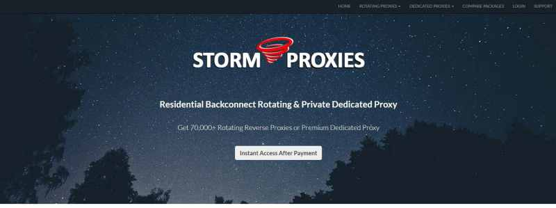 Storm Proxies Homepage2