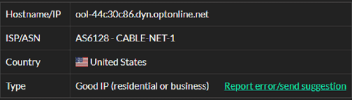 Stormproxies ISP test ip1