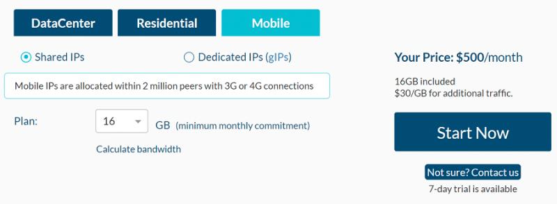 mobile IPs price plan