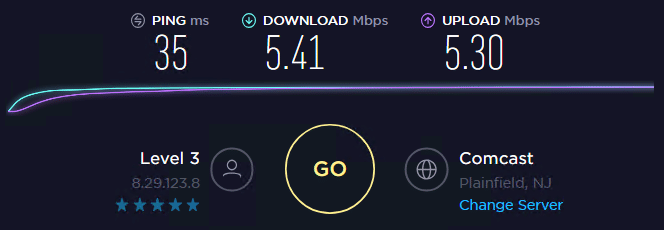 Speed test with ip3