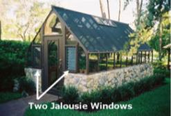 greenhouse with Jalousie windows