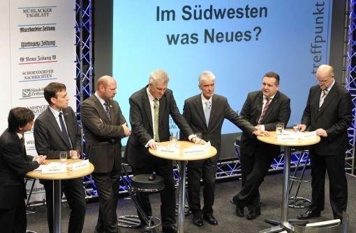Treffpunkt Foyer mit den Spitzenkandidaten zur Landtagswahl 2011
