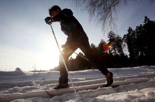 Bei Schnee und Sonnenschein ist Langlaufen eine Lust. Auch in der Region Stuttgart sind viele Loipen gespurt. Foto: dpa