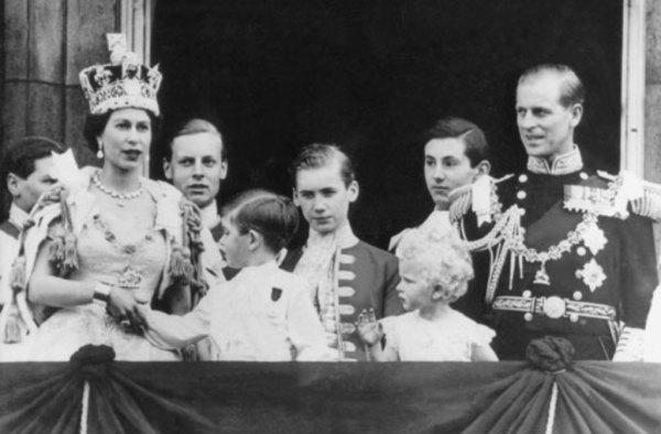 Drei Generationen von Windsors Queen Elizabeth II