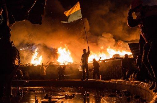 Bei den Straßenschlachten in Kiew kamen mehr als ein Dutzend Menschen ums Leben, darunter Polizisten. Foto: Getty Images Europe