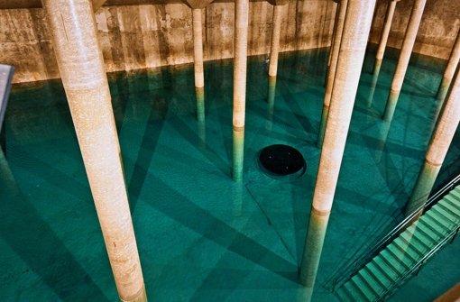 Der Trinkwasserhochbehälter auf dem Hasenberg ist der größte der Stadt. Foto: Steffen Honzera