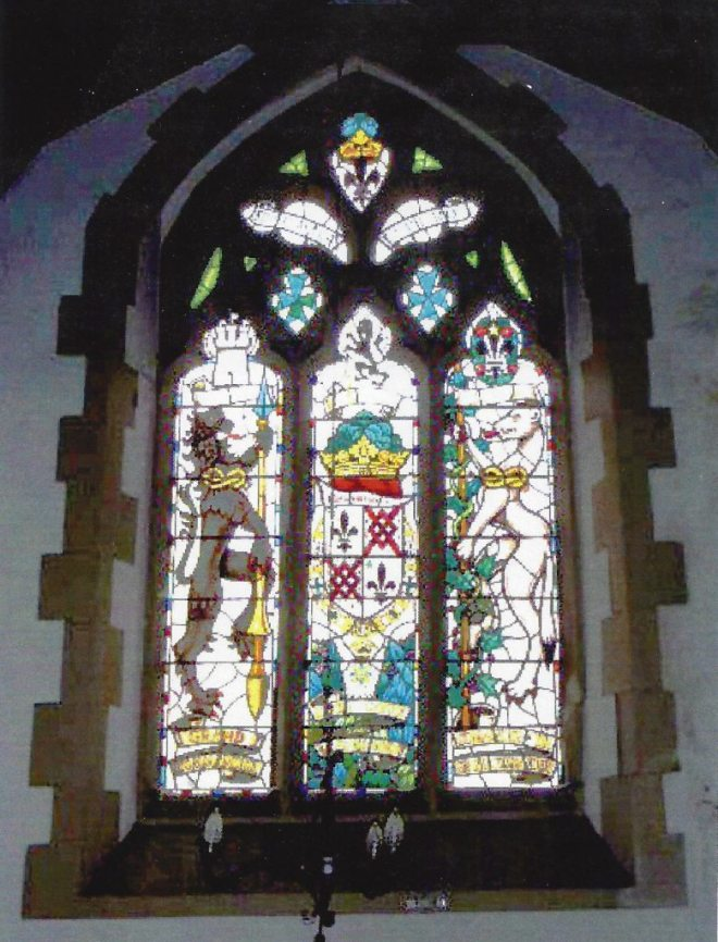 The East Window of the North Aisle to Lt Col. Gayre of Gayre and Nigg (A C Whalen 1980)