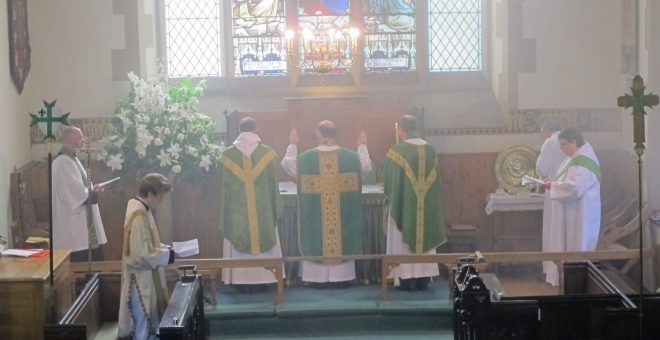 Celebrants - Bishop of Edinburgh, St Vincent's Rector and its new Assistant Priest