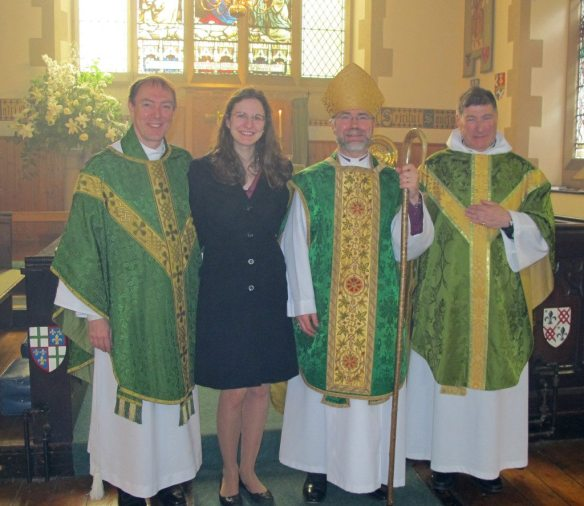 Michael and Eleonora Hull, The Bishop of Edinburgh and the Rector of St Vincent's on 20 June 2015.