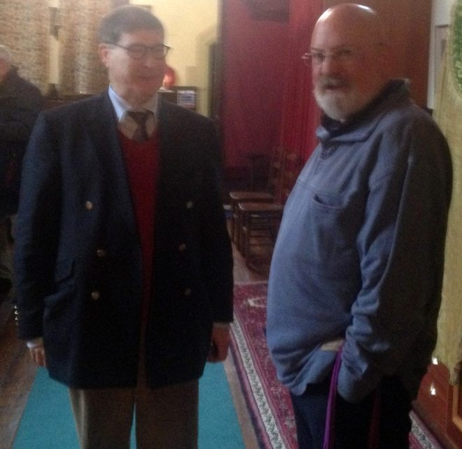 Canon Allan Maclean and William Mounsey, Rector and Assistant Priest on Doors Open Day