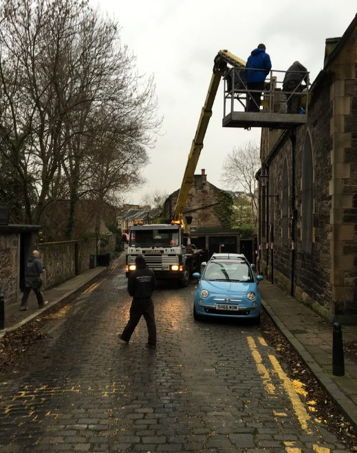 Gutter clear out - on Saturday 12th December 2015